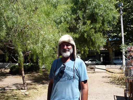 Rainer (Lojan) mit der ersten Patagonienausrüstung