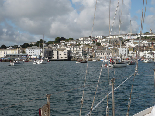 in Falmouth-Harbour vor Anker